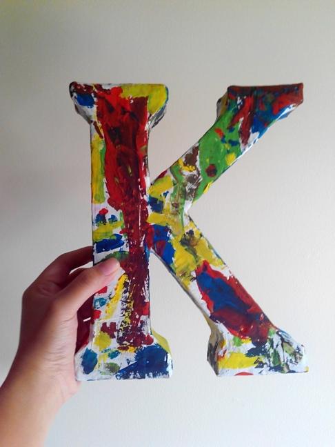 3d Letter Diy.Diy 3d Cardboard Letter